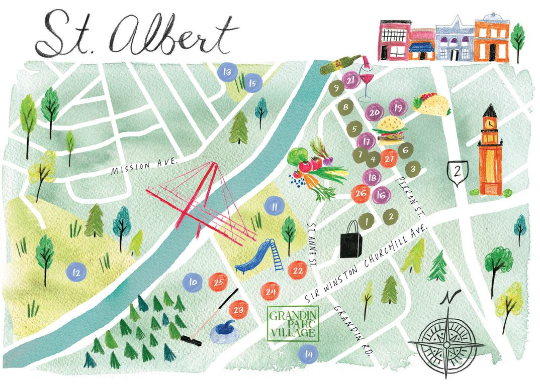 St. Albert Map