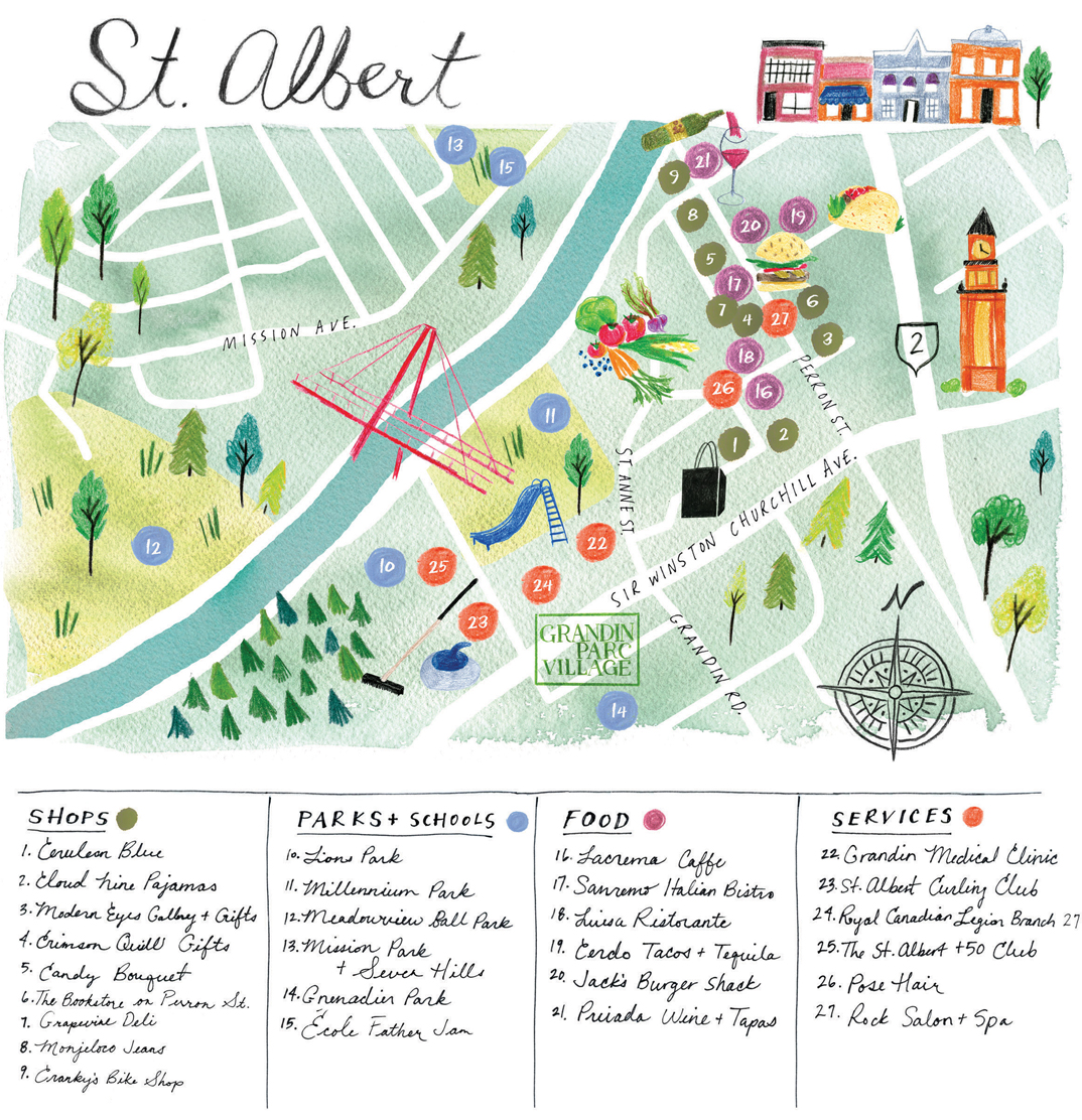 St. Albert Map